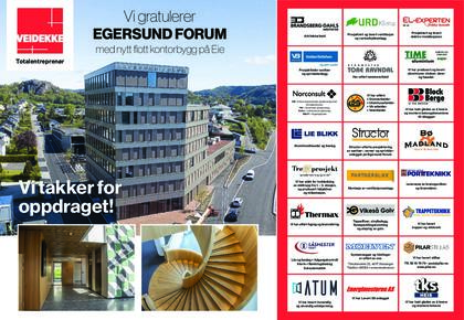 Gratulasjonsannonse Egersund Forum